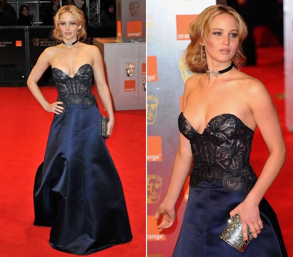 Estélyiben is szexi: a mélyen dekoltált ruhát a 2011-es Orange British Academy Film Awardson viselte.