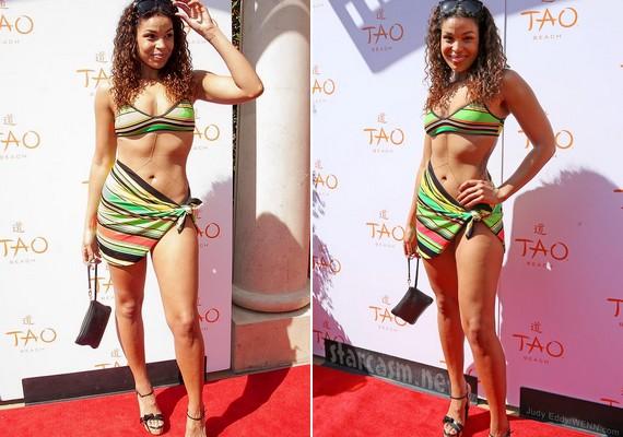 2014-ben, amikor elérte az álomsúlyt, ebben a bikiniszerű ruhában jelent meg egy eseményen.