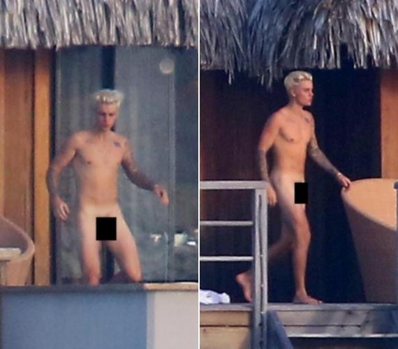 Ezek a fotók készültek Justin Bieberről Bora Borán, ahol teljesen meztelenül indult tengeri fürdőzésre.