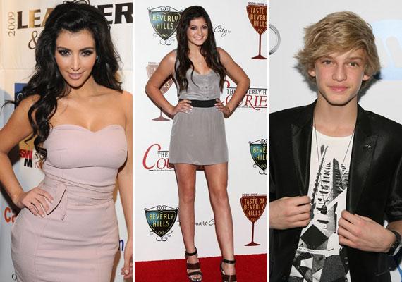 Justinnal együtt bulizott Kim Kardashian, Kyle Jenner és Cody Simpson is.