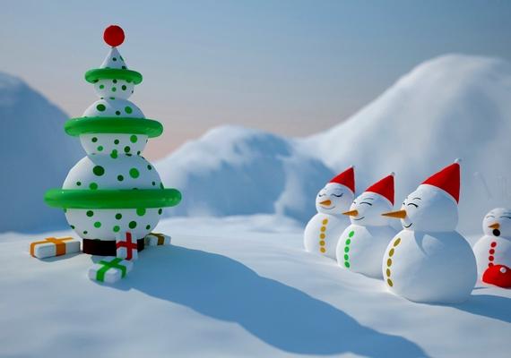 A hóembercsalád karácsonya.Kattints ide a nagyobb felbontású képért! »