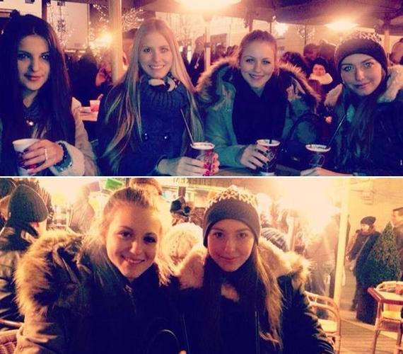 A 16 éves magyar énekesnő, Dallos Bogi is megnézte a barátnőivel a vásárt a Vörösmarty téren.
