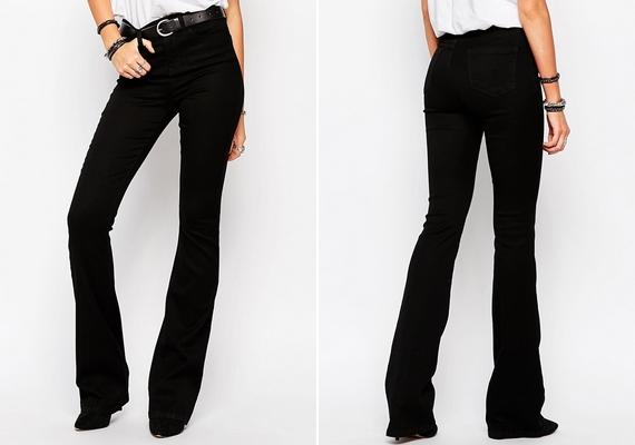 Ha optikailag vékonyító ruhadarabról van szó, a fekete szín örökérvényű. Ha az előző nadrágnál felsorolt szempontoknak megfelelő fekete farmert veszel, megduplázod a karcsúsító hatást.