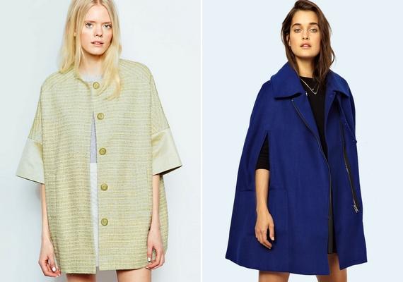 Ápol és eltakar a pelerinszerű kabát: erős felsőtest esetén különösen jó választás.