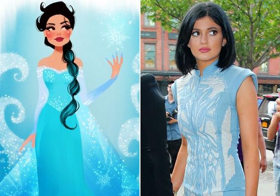 Elsa hercegnő mint Kylie Jenner.