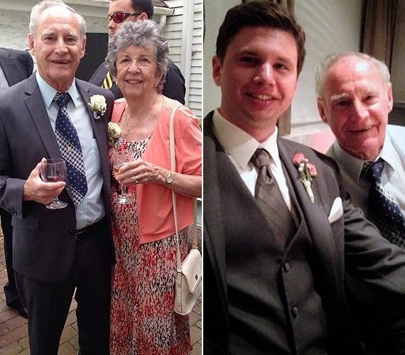A 33 éves Derek nagyapját Thomasnak hívják, most 86 éves, és évtizedek óta boldog házasságban él Derek nagymamájával. A fotók az unoka esküvőjén készültek.