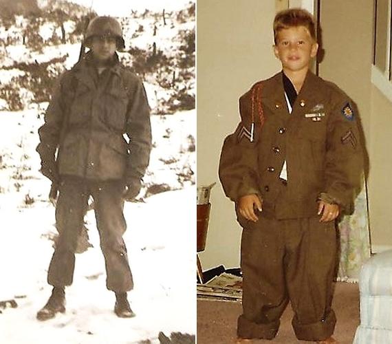 A nagypapa és az unoka között szoros a kötelék, Derekről még egy olyan gyerekkori fotó is készült, ahol Thomas egyik katonai egyenruháját viseli.