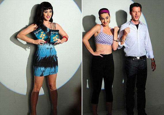 Katy még a reklámfotóssal is pózolt egy kép erejéig.