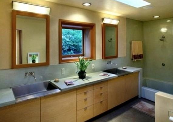 Bár az énekesnő egyelőre egyedül költözik, a fürdőszoba kétszemélyes.