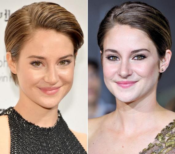 A Csillagainkban a hiba című film sztárja, Shailene Woodley is a rövid haj híve, ő általában hátrafésülve viseli a frizuráját.