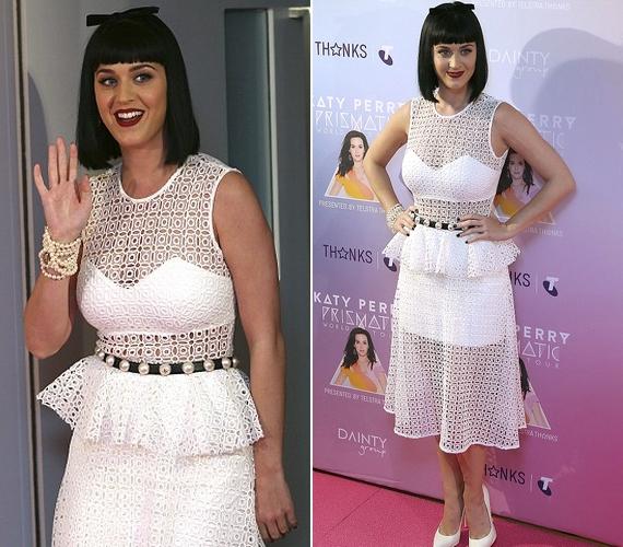 Katy Perryt a minap Sydney-ben fotózták ebben a szerelésben, ami több magazintól is megkapta a nagymamás jelzőt.