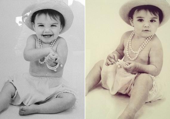 Kendallről már egészen kicsi korában is gyönyörű műtermi fotók készültek, igaz, akkor még csak a család számára.