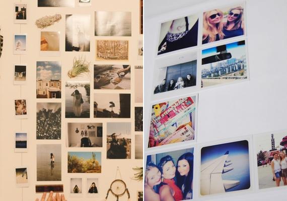 Ha valami egyszerűre vágysz, szerezz be táblaragasztót, és ezzel tedd fel a képeidet a falra, ízlés szerinti elrendezésben!