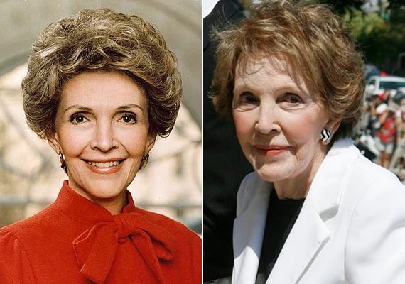 Nancy Reagan, Ronald Reagan felesége híres színésznő volt, mielőtt igent mondott az elnök lánykérésére, de drogellenes kampánya hozta meg számára igazán a hírnevet.