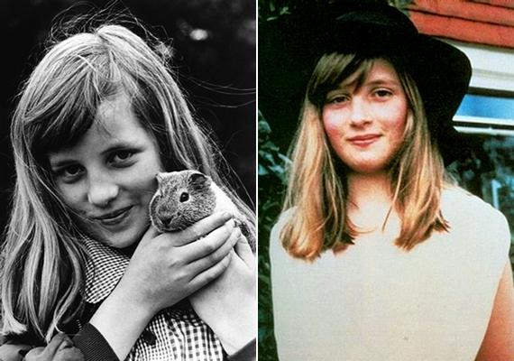 Diana Spencer egy átlagos, bájos, pirospozsgás arcú kislány volt.