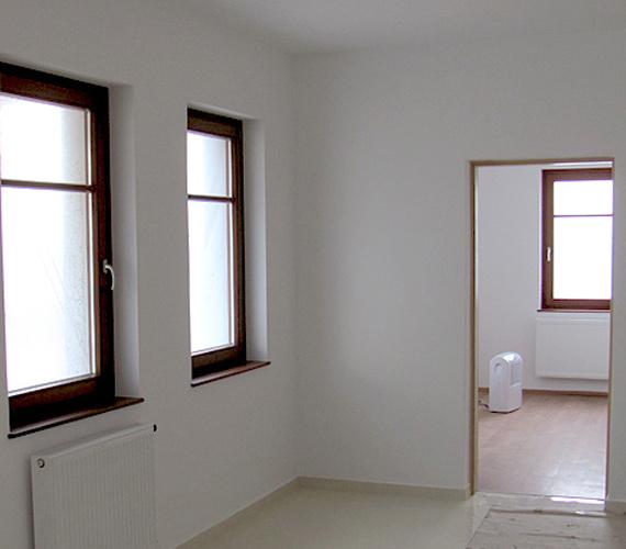 A szobák - még bútorozatlanul.