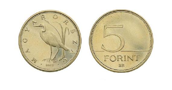 Az 5 forintos érme.