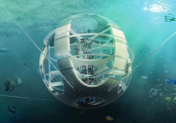 Az újrahasznosító gömb a tengerben úszó, hatalmas mennyiségű műanyag szemetet gyűjtené be, amit aztán újrahasznosíthatnánk, akár akkor is, ha már kifogytunk a nyersanyagból.