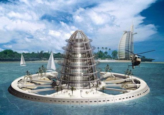 Szintén egy régi olajfúró stabilizálásával lehetne létrehozni ezt víz alatti labort és szálláshelyet.
