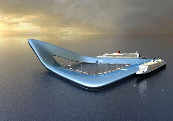 A 490 ezer négyzetméterre tervezett hajóterminál nemcsak a tengerjárókat, de az utasokat is kiszolgálná élelemmel, szállással és szórakozási lehetőségekkel.