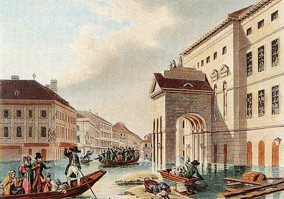 Az 1838-as nagy pesti árvíz a mai Budapest pesti oldalán okozott súlyos károkat.