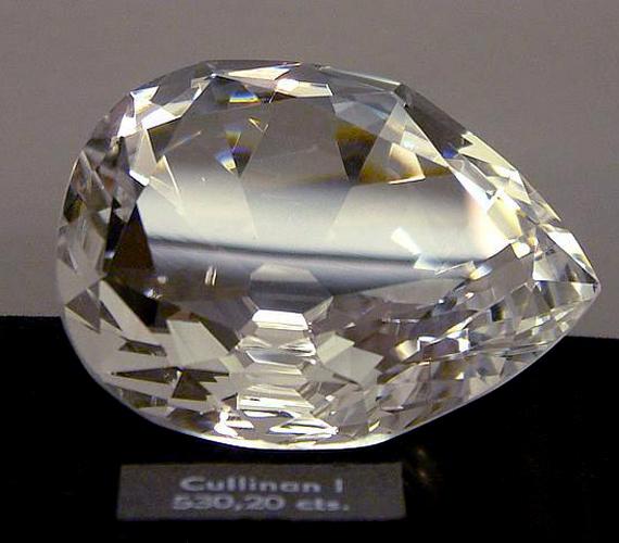A Great Star of Africa - más néven Cullinan I. - minden idők leghatalmasabb csiszolt gyémántja. 1905-ben fedezték fel.