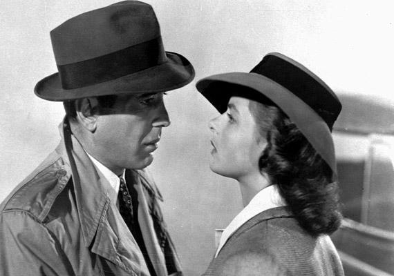Humphrey Bogart és Ingrid Bergman szerelmét sirathattuk meg az 1942-es Casablancában.