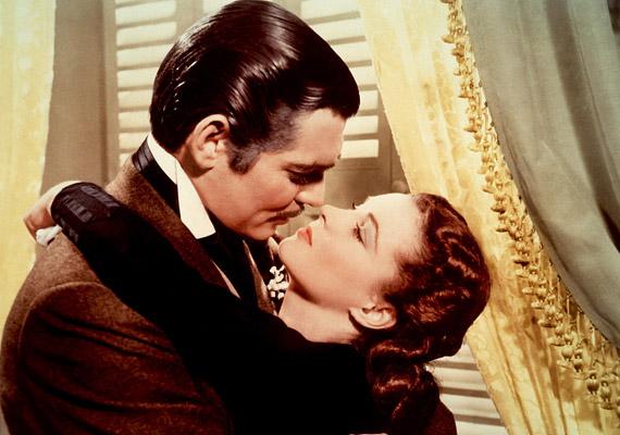 Az 1939-es Elfújta a szél az amerikai polgárháború idején játszódik. A főszerepben: Vivien Leigh és Clark Gable.