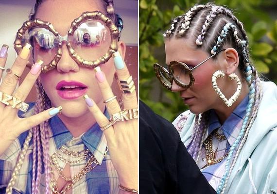 Kesha legújabb klipje a Crazy Kids című számhoz készül. Az énekesnő jobb kezén lévő gyűrűn a crazy, a balján lévőn pedig a kids felirat díszelgett.