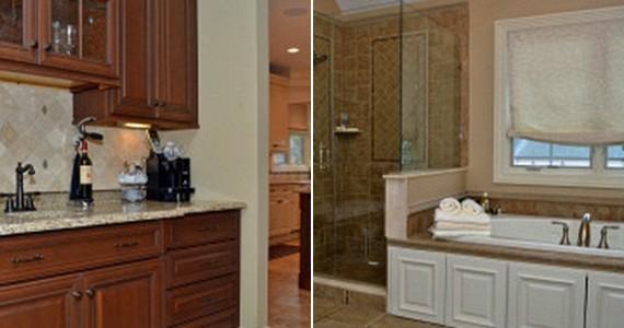 A házban egyedi konyha, valamint öt és fél fürdőszoba van.