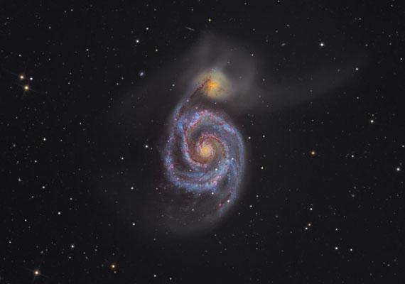 Martin Pugh fényképe a Whirlpool-galaxisról az összetett első helyet érdemelte ki.