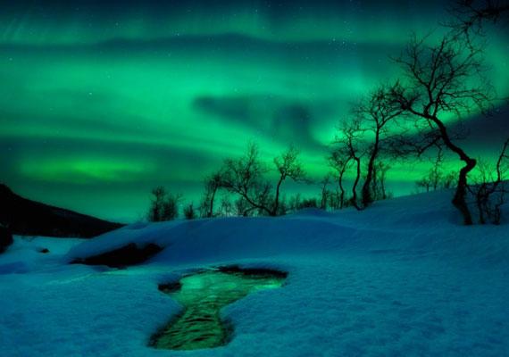 Arild Heitmann Norvégiában készült fényképe az északi fényről második lett az Ég és Föld kategóriában.