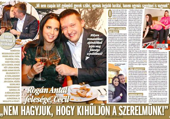 Az V. kerület polgármestere, Rogán Antal nagyon büszke fiatal feleségére. Szinte lépten-nyomon vele kampányol.
