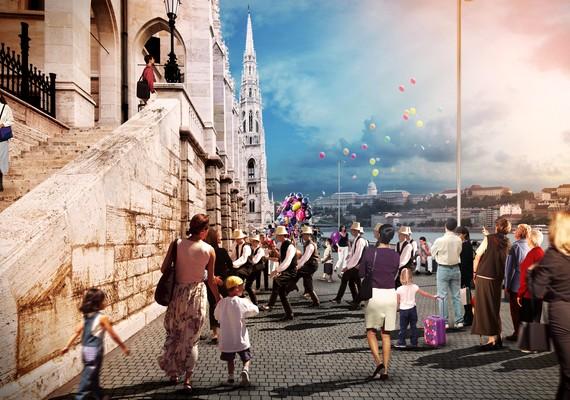 Az Andrássy-emlékmű a József Attila-szobor helyére kerül, amelyet a mostani pozíciójától mintegy 50 méterre, a Duna-parti sétányon helyeznek el. A Parlament épülete addigra a Duna felől is körbesétálhatóvá válik - a folyó felőli sétány kialakítása szintén a fővállalkozó feladata.