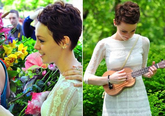 """""""Hát ez is elérkezett... Elballagtam"""" - írta Vera a bal oldali képhez. A jeles alkalomból az énekesnő egy ukulelét kapott ajándékba."""