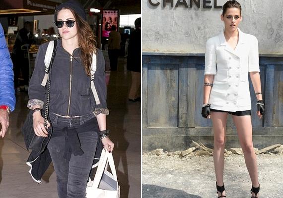 Még hollywoodi mércével mérve is hatalmas különbség van Kristen hétköznapi és munkaidő alatti külseje között.