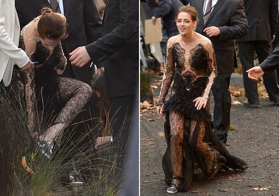 Kristen nem bírja a magassarkút, még a fogadásra is kedvenc tornacipőjében érkezett, így viszont a legkevésbé sem volt nőies látvány.