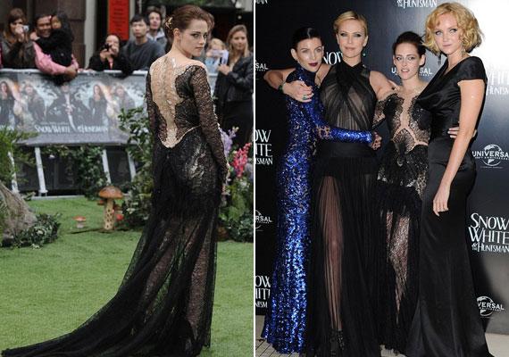 A premieren egyébként minden női szereplő különleges ruhában jelent meg.