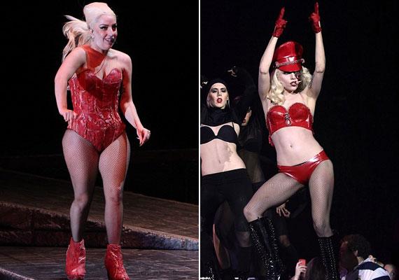 Az a bizonyos fellépőruha, ami után a lapok Gaga súlyáról kezdtek cikkezni.