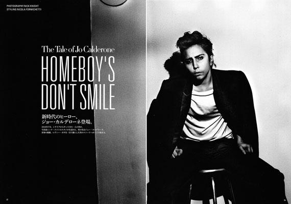 Korábban szerepelt már a japán Vogue-ban, akkor férfiruhában fotózták.