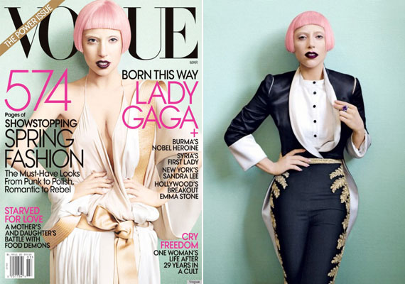 Egy korábbi Vogue-ban, valamivel több ruhában.