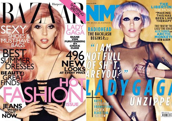 Korábban szerepelt a Harper's Bazaar és a New Music Express címlapján - szintén elég provokatív szerelésben, ráadásul ez még nem is olyan ízléses, mint a Vogue képei.