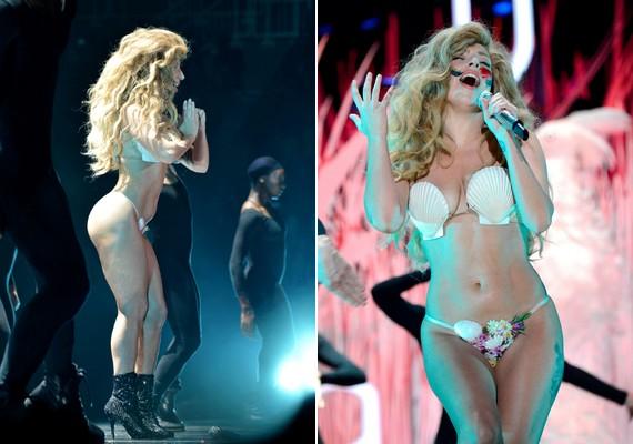Lady Gaga az idei MTV VMA díjátadón valószínűleg egy sellő kecsességét szerette volna leutánozni. Rosszul tette.
