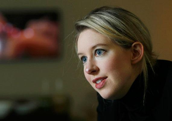4,5 milliárd dolláros vagyonával Elizabeth Holmes a legfiatalabb önerőből milliárdossá vált nő. A 30 éves Holmes a 9 milliárd dollárt érő Threanos vérképelemző cég felét birtokolja.
