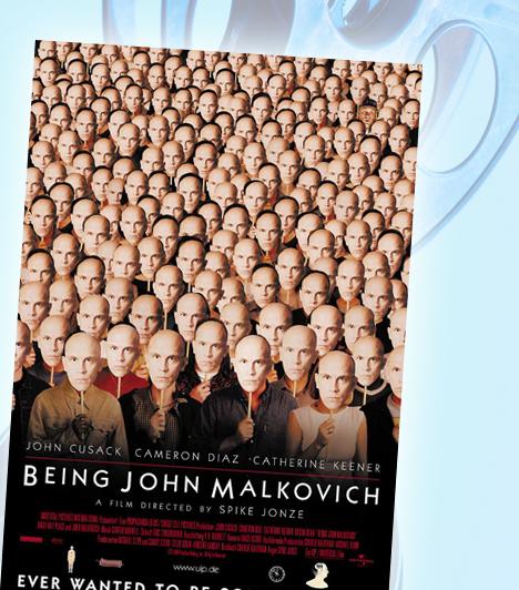 A John Malkovich-menet - Being John MalkovichCraig tehetséges bábművész volt, mára viszont senki sem kíváncsi a művészetére. A kényszerű helyzetben állást vállal a cégnél, melynek irodája az egyik manhattani felhőkarcolóban van. Egy napon különös rejtekajtóra bukkan, melyen keresztül egyenesen a hollywoodi sztár, John Malkovich agyába jut.Kapcsolódó címke:Film »