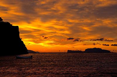 Naplemente Capri szigetén