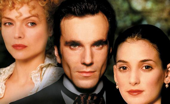 Az ártatlanság kora című 1993-mas történelmi dráma középpontjában egy szerelmi háromszög áll. A főszerepekben: Daniel Day-Lewis, Michelle Pfeiffer és Winona Ryder.