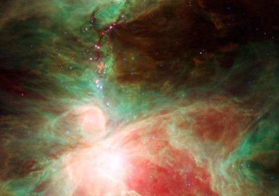 A Spitzer űrteleszkóp felvétele az Orionról