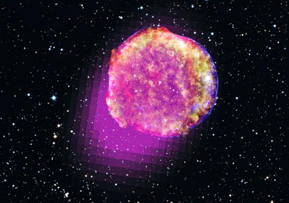 Így ragyog a Tycho csillag.