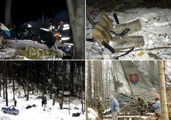 A szlovák mentők érkeztek először az erdőbe, amit 800 méteren szinte teljesen letarolt a repülőgép. A kiégett roncs darabjai 1800 négyzetméternyi területen szóródtak szét, így a mentőegységeknek nem volt könnyű dolguk a terep felmérése során.